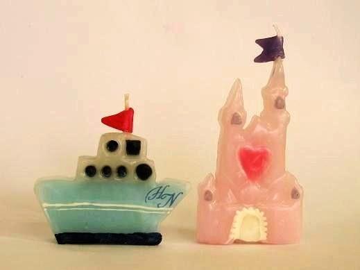 お城と船キャンドル