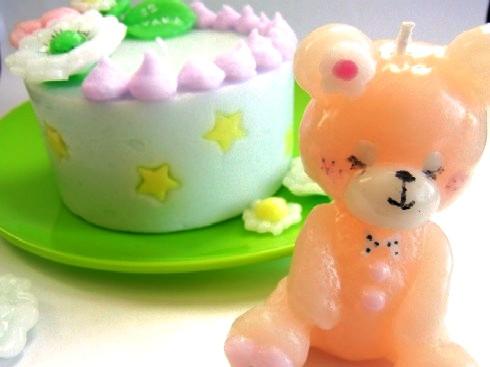 お花と星のケーキキャンドル