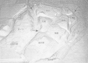 七戸城跡現況地形模型