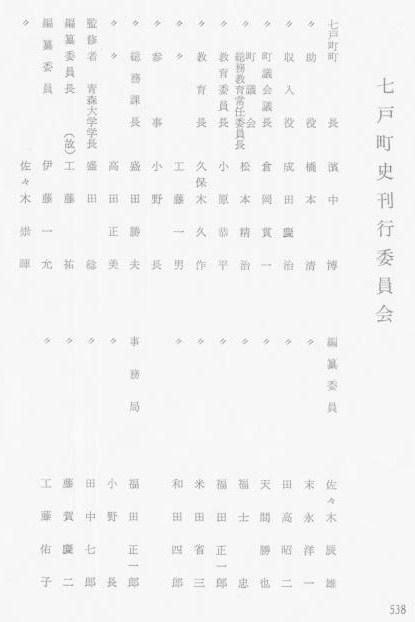 七戸町史刊行委員会