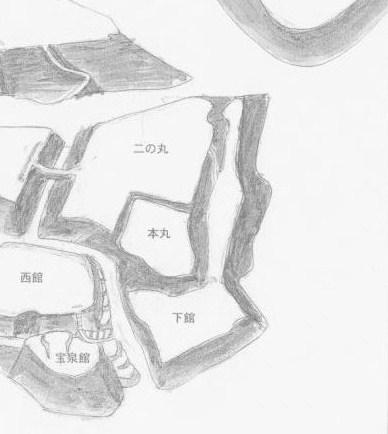 七戸城跡本丸と二の丸
