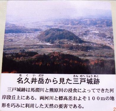 名久井岳から見た三戸城