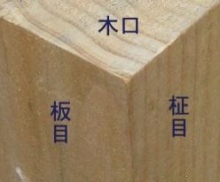 100223板目柾目木口