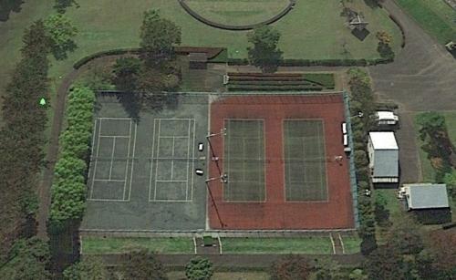 テニスコート改修4七中2