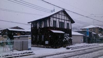 雪の被る事務所