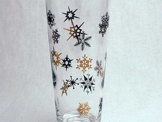ビンテージ/50'S スノーフレーク グラス/タンブラー