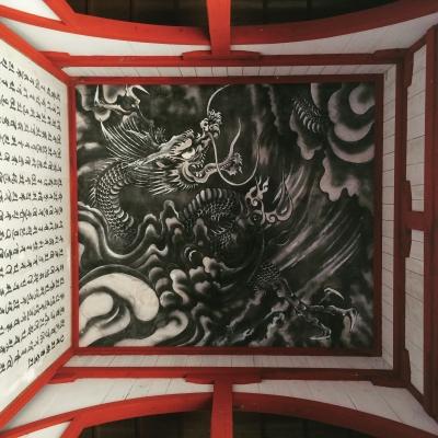 円覚寺 山門天井 龍の図