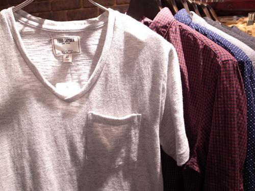 トッドスナイダー VネックポケットTシャツ.jpg