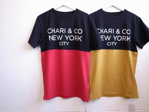 Chari&Co.NYC バイトーンTシャツ 14SS.jpg