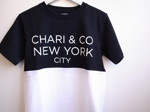 Chari&Co.NYC バイトーンTシャツ ホワイト.jpg