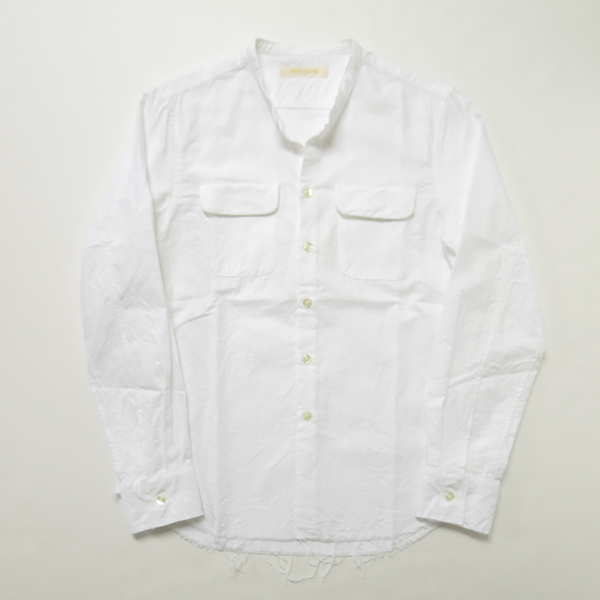 ONES STROKE ホワイトオックスノーカラーシャツ.jpg