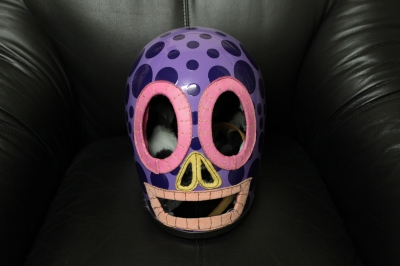 オリジナルヘルメット紫