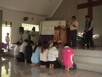 チェンライ教会入会式