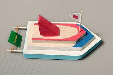 バルサで造る舟作成例