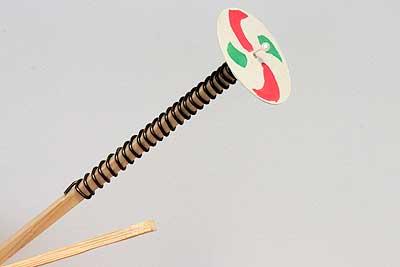 ガリガリプロペラ作例2 削る代わりにアルミ線を巻き付けたもの