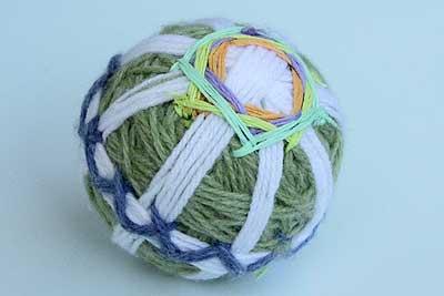 毛糸の手まり 完成見本