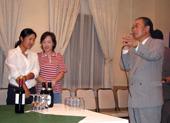 常永会長のスピーチで、祝賀会が始まりました