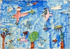 空を飛ぶ絵(1977年?)