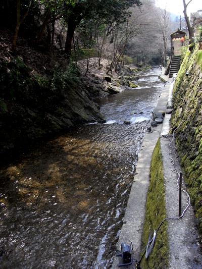 を流れる、これは鴨川源流なんでしょうか。