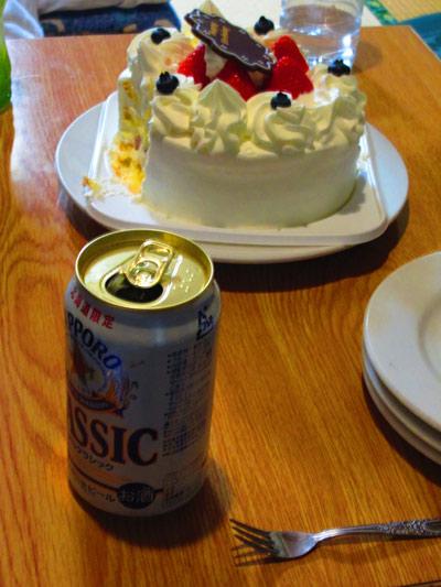 ケーキ肴に直フォーク