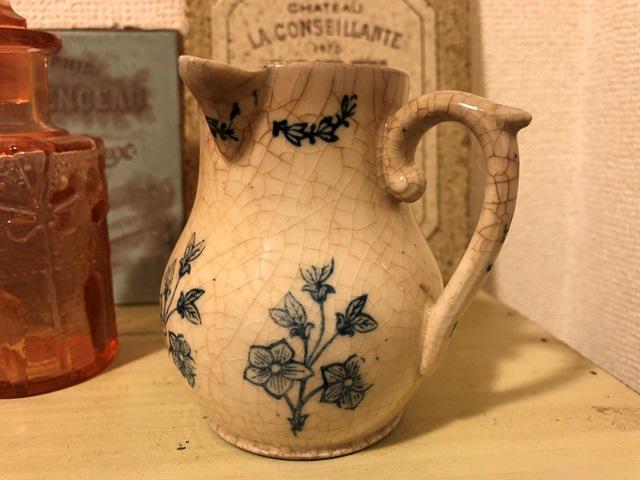 Antique ミルクピッチャー 陶器