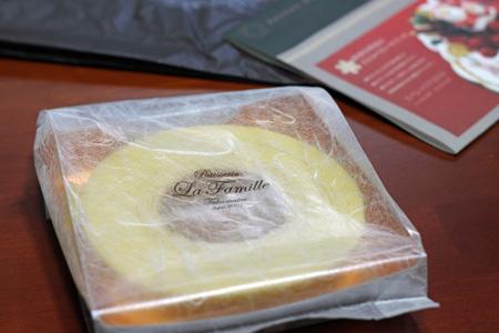 黄金バウムクーヘン フランス菓子工房 ラ・ファミーユ