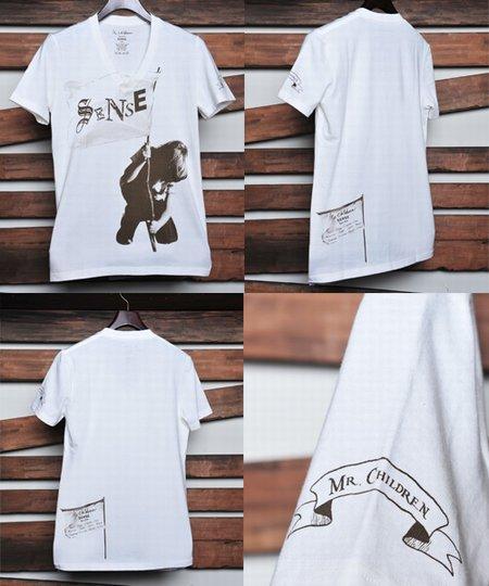 """FLAG Vネック Tシャツ Mr.Children Tour 2011 """"SENSE"""" オフィシャルグッズ"""