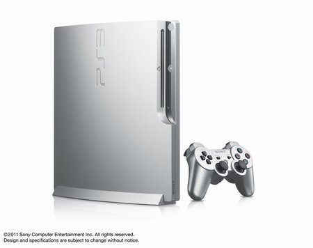 PS3 「CECH-2500シリーズ」 新色サテン・シルバー