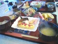 朝食は和風。 おいし♪