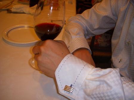ワインとカフス