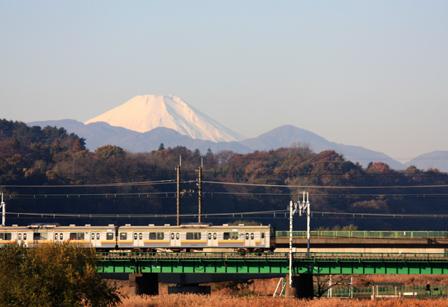 冬の朝の富士