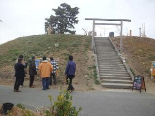 閖上湊神社を訪ねた時の様子