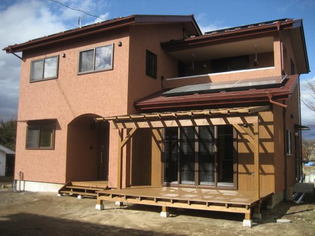 一般住宅塗り壁アングル1
