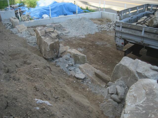 石積み開始