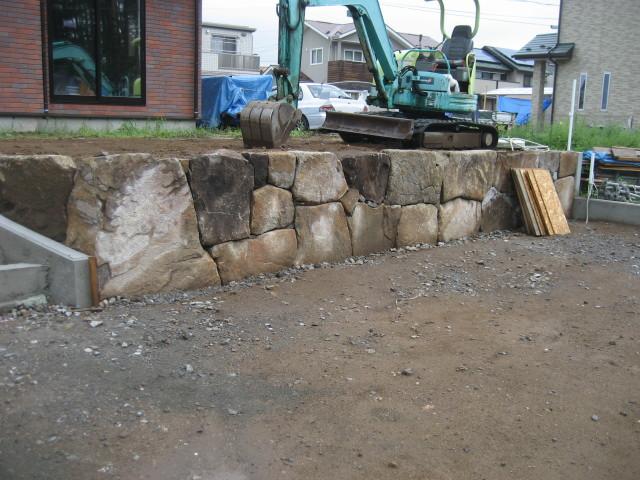 完成した石積み