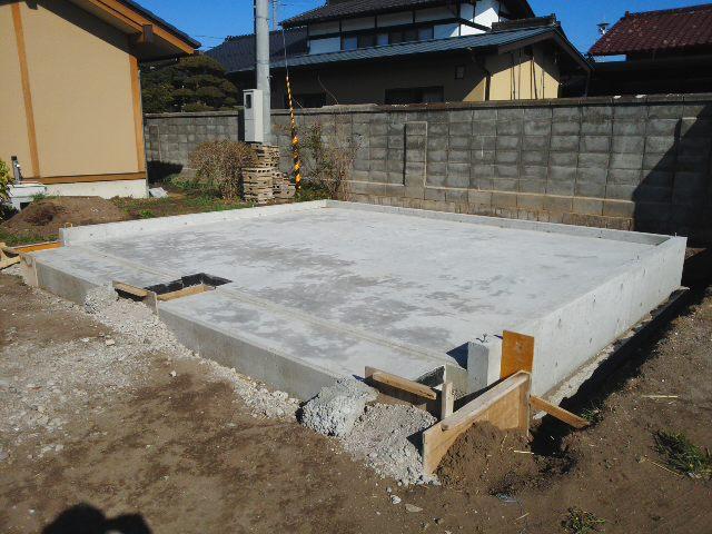 建て方開始前の基礎
