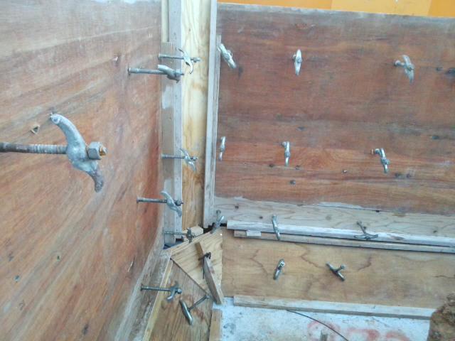 擁壁内側の型枠