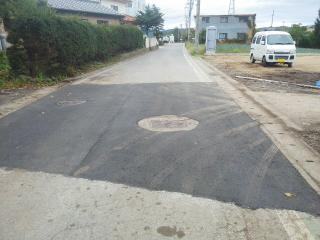舗装の復旧