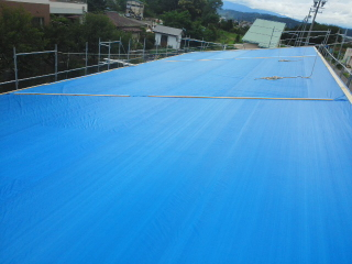 屋根シート養生