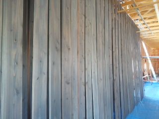 杉板の塗装