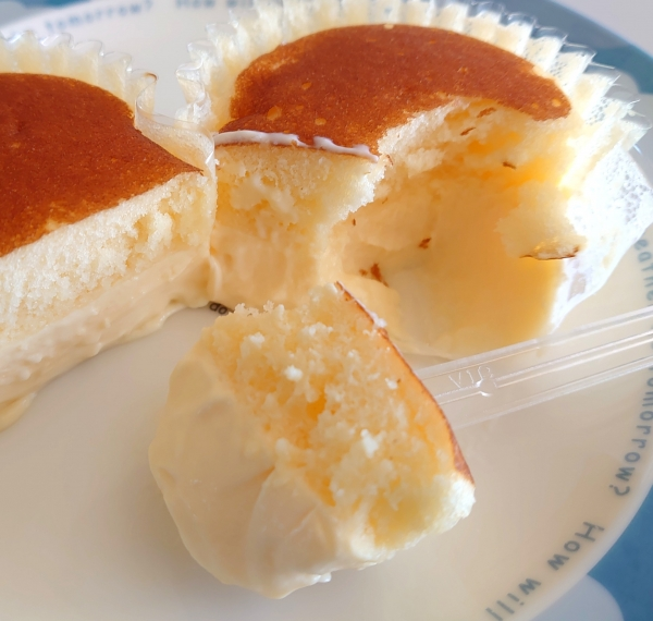 北海道チーズ蒸しケーキのとろけるぷりん