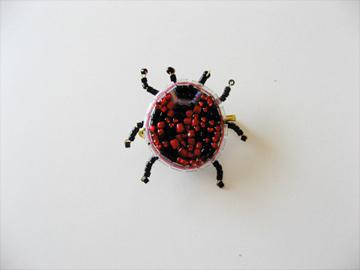 てんとう虫のブローチ
