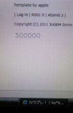 ko*koruriさん300000hitカウプレ当選