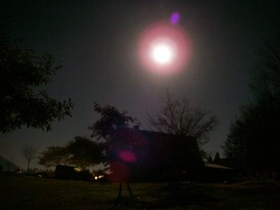 おきてみると満月です・・・もしや^^