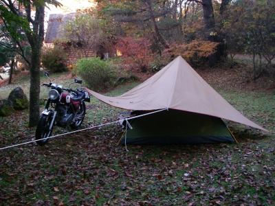 こうすればテントも問題なく・・・