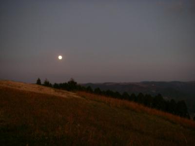 満月が昇って・・・