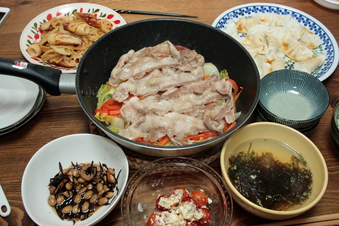 2013-12-02蒸し野菜鍋献立.JPG