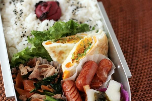 2014-02-25豚と小松菜の炒め物弁当.JPG