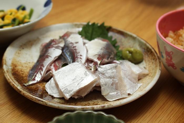 2016-10-29太刀魚とアジのお造り.JPG