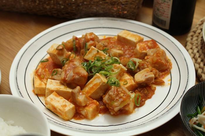 2016-11-01鶏と豆腐のチリソース炒め.JPG